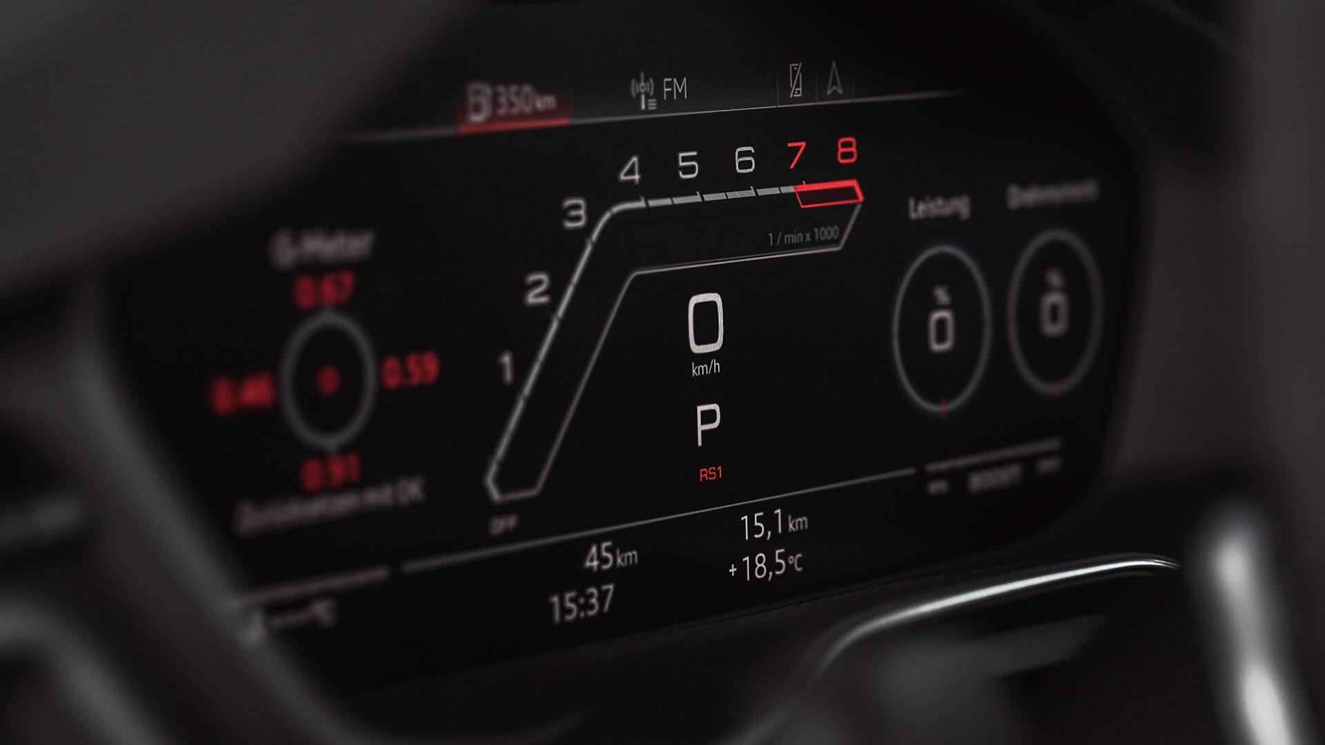 Audi virtual cockpit in the Audi RS 5 Coupé